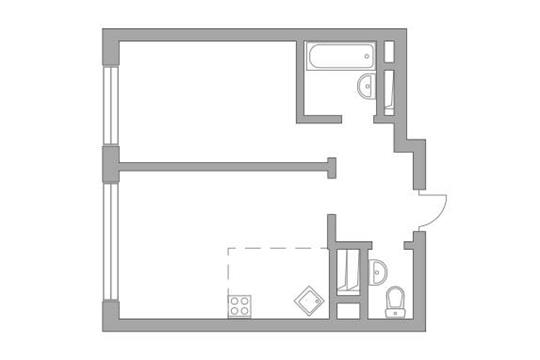 2-комн квартира, 40.5 м2, 13 этаж