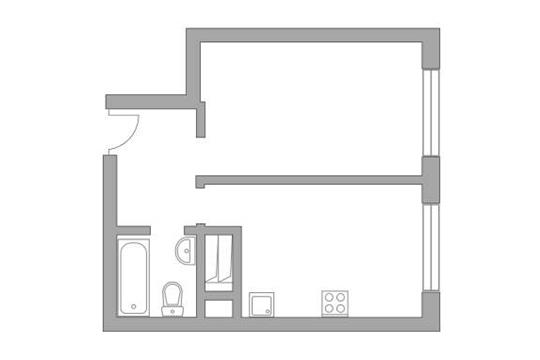1-комн квартира, 33.8 м2, 17 этаж