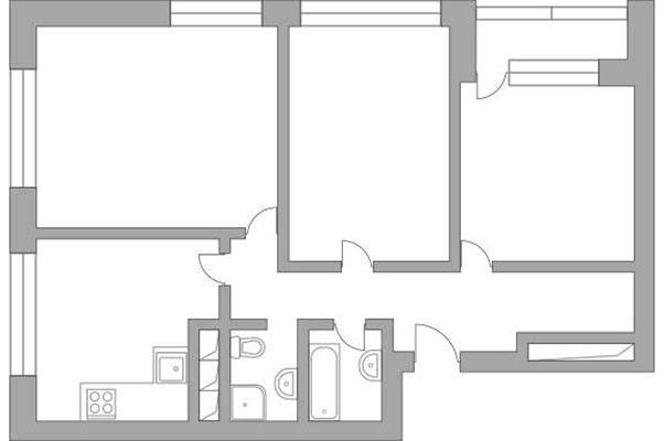 3-комн квартира, 85.6 м2, 14 этаж - фото 1