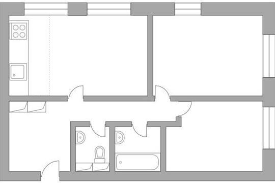 3-комн квартира, 68.8 м2, 14 этаж