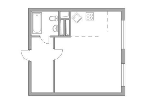 Студия, 34.4 м2, 14 этаж