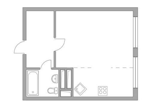 Студия, 30.9 м2, 14 этаж