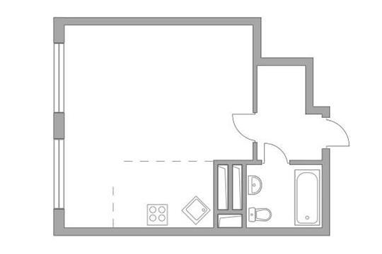 Студия, 33 м2, 14 этаж