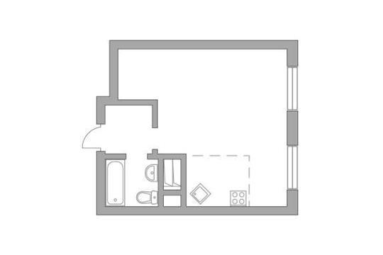 Студия, 32.4 м2, 17 этаж