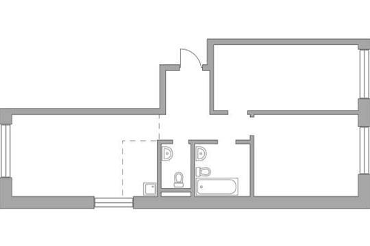 3-комн квартира, 78.36 м2, 4 этаж