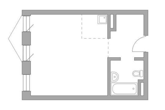 Студия, 35.99 м2, 6 этаж