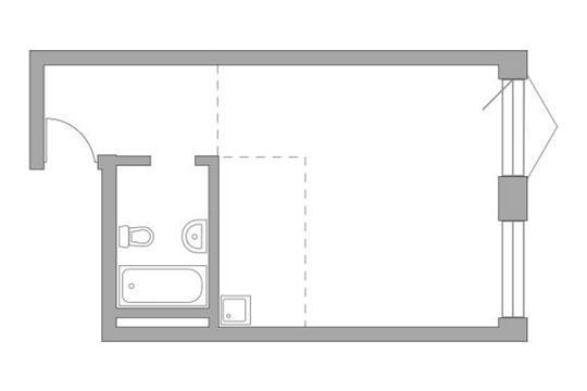 Студия, 37.21 м2, 6 этаж