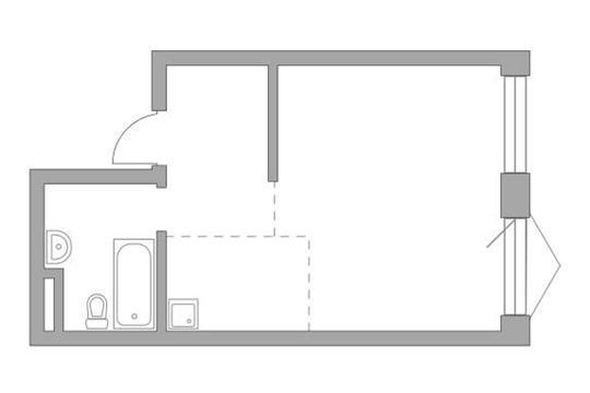 Студия, 36.86 м2, 7 этаж