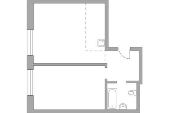 2-комн квартира, 61.51 м2, 7 этаж