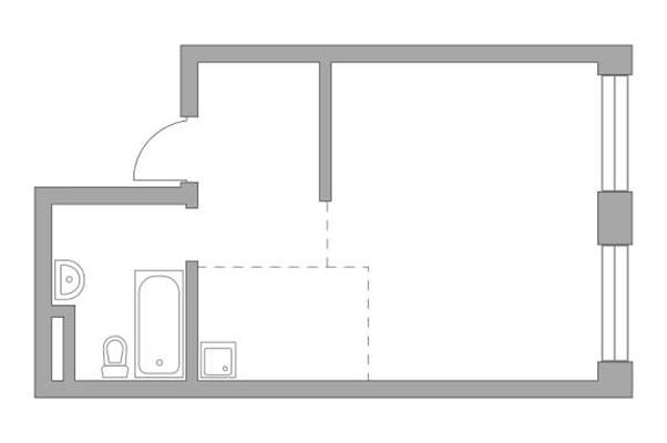 Студия, 35.6 м2, 14 этаж - фото 1