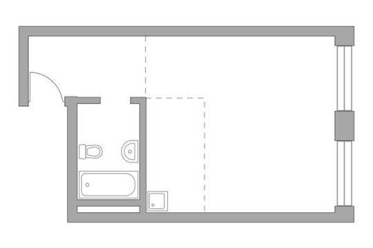 Студия, 36.04 м2, 15 этаж