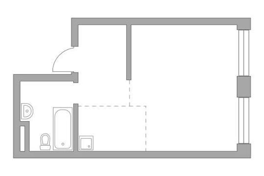 Студия, 35.6 м2, 15 этаж
