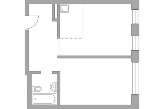 2-комн квартира, 47.65 м2, 15 этаж