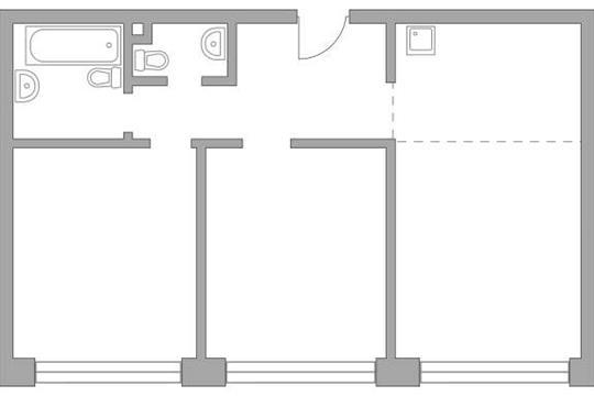 3-комн квартира, 70.23 м2, 16 этаж