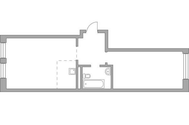 2-комн квартира, 59.57 м2, 16 этаж - фото 1