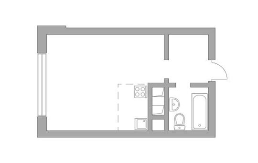 Студия, 27.2 м<sup>2</sup>, 22 этаж_1
