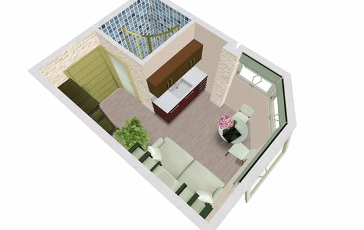 1-комн квартира, 14 м2, 1 этаж