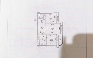 1-комн квартира, 37.5 м2, 3 этаж