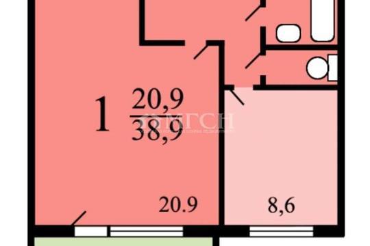 Комната в квартире, 39.2 м2, 5 этаж