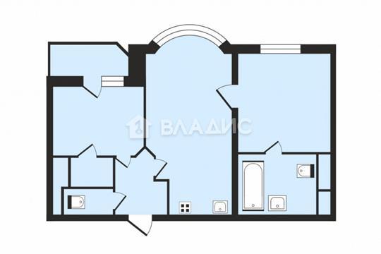 2-комн квартира, 56 м2, 5 этаж