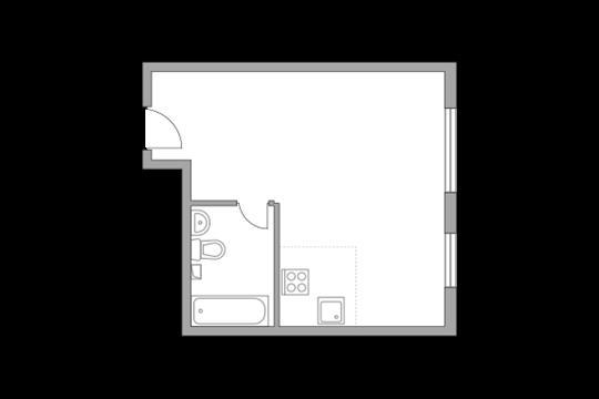 1-комн квартира, 30.7 м2, 11 этаж