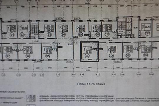 1-комн квартира, 32 м2, 11 этаж