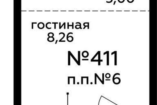 Студия, 22.11 м2, 6 этаж