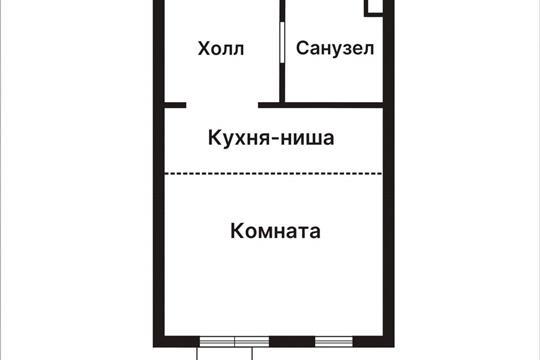 Студия, 25.2 м2, 2 этаж