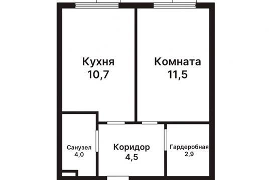 1-комн квартира, 33.6 м2, 19 этаж